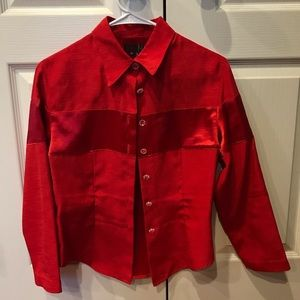Tops - Red button down shirt